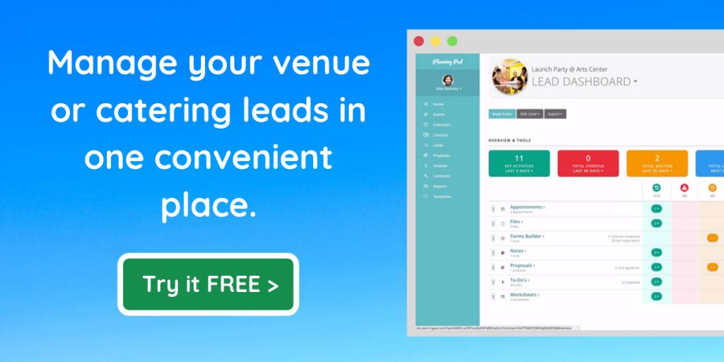 venue lead management software app