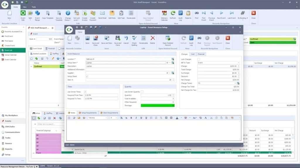 EventPro Event Resource Inventory Management